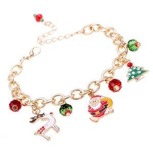 Jewelry - Trendy Christmas Charm Bracelet Gift Jewelry Santa